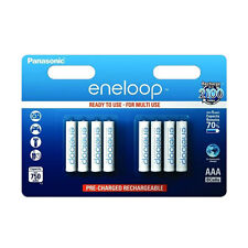 8 Pack NEW Sanyo Panasonic Eneloop AAA HR03 NiMH Rechargeable Batteries - 800mAh