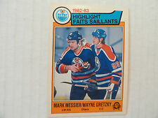 Wayne Gretzky/Mark Messier Highlight `83/84 OPC Beautiful Card Edmonton Oilers