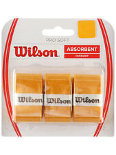 3 Wilson Pro Soft Grips/Overgrips - Gold - Free P&P