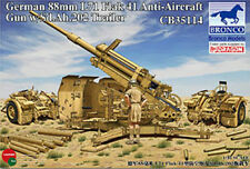 Bronco 1/35 35114 German 88mm L71 FlaK 41 Anti-Aircraft Gun w/Sd.Ah.202 Trailer