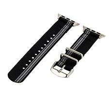 Ducati Black/Grey - 2 Piece Classic SS Nylon Watch Band for 38mm Apple Watch