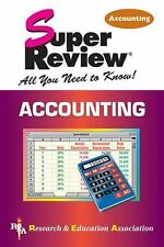 Super Reviews Study Guides: Accounting by Research and Education Association...