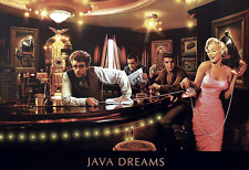 "Java Dreams Poster 13x19"" James Dean Elvis Presley Marilyn Monroe Bogart"