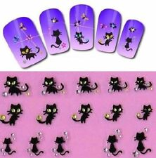 Korea 3D Black Cats Nail Art Stickers Nail Decals Decoration Manicure Tips Art ✿