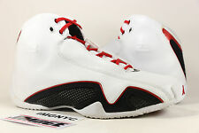 AIR JORDAN XXI XX1 21 USED SIZE 10 WHITE RED SILVER BLACK COOL GREY 313038 161
