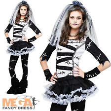 Monster Bride Teen Age 14-16  Fancy Dress Girls Halloween Party Kids Costume New