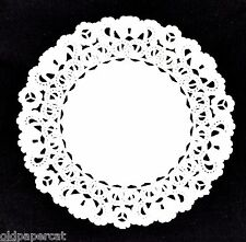 """25 - WHITE 4"""" Normandy PAPER Lace DOILIES 