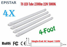 4 PCS 4FT LED T8 Tube Lights,2300lm 22W,Super bright ,5000K,120PCS EPISTAR CHIPS