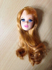 Barbie Life In The Dreamhouse Midge Doll's Head Rooted Eyelashes Red Hair