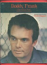"MERLE HAGGARD ""DADDY FRANK THE GUITAR MAN"" PIANO/V/GUITAR SHEET MUSIC 1971 RARE"