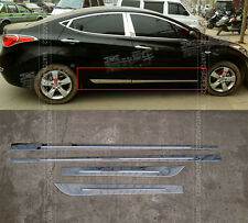 FIT FOR 2011-2015 HYUNDA ELANTRA SEDAN CHROME SIDE BODY DOOR MOULDING TRIM LID