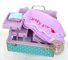 Mary Kay Good Morning Doll Set: Aluminum Cosmetic Organizer + Towel + Hairband