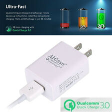 AICase 18W Quick Charge 3.0 USB Turbo Wall Charger Adapter &3ft Cable