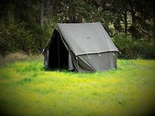 WW2 US Army Olive Green US Small Tent Wax Canvas Camping Shelter Kit - Repro