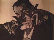 Vintage 6 foot Frankenstein And Dracula Posters Mail Order Items 1960'S-1970's