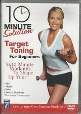 10 Minute Solution Target Toning For Beginners DVD NEW Workout Fitness ABS Buns