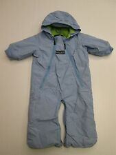 LANDS' END  Youth Blue Hooded Full Zipper Insulated Fleece Jacket Size 12 Months