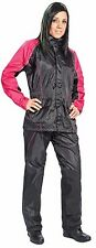 JOE ROCKET RS2 WOMENS MOTORCYCLE RAIN SUIT SMALL BLACK PINK HEAT PROTECTION