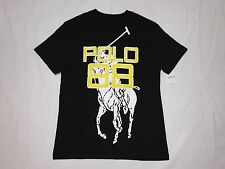 NEW WITH TAGS POLO RALPH LAUREN BIG PONY GRAPHIC T SHIRT BOYS( M 10 -12 )  BLACK