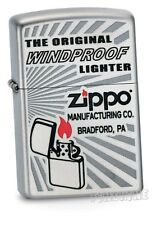 Satin Silver Nostalgie-ZIPPO neu+ovp THE ORIGINAL WINDY