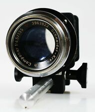 135MM 4.5 SCHNEIDER COMPONENT LENS ON BELLOW WITH SCREW ON MOUNT