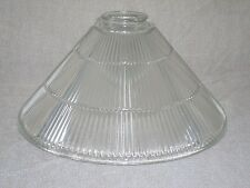 "Holophane Glass Shade * COMMERCIAL INDUSTRIAL * 15"" X 7"" Cone Shape * Light~Lamp"