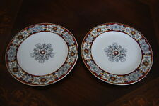 PAIR ROYAL WORCESTER FOR TIFFANY & CO NY ART DECO DECORATED CABINET WALL PLATES