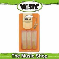 Rico 3 Strength Tenor Saxophone Reeds - 3 Pack - Sax Reed Box of 3