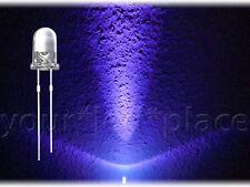 100 x 5mm LED circa UV ULTRAVIOLETTO 30 ° 700mcd luminosità circa testa SUPER CHIARO PURPL