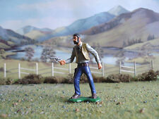 Vintage Marx Wild West Cowboy advancing with pistol 1:35 painted