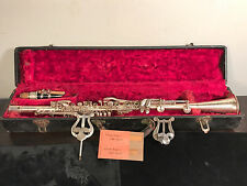 Vintage SONATA DELUXE Silver Plated Clarinet with Original Case — RARE