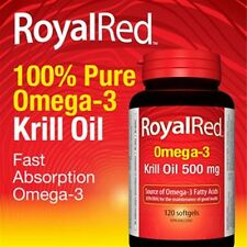 120 S Royal Red Omega 3 Plus Krill Oil 500 mg / Pure Antarctic Webber Naturals