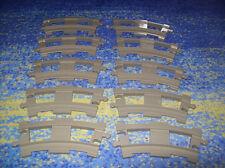LEGO Duplo Eisenbahn - 10 gebogene Schienen für Schiebe oder elektr. Eisenbahn