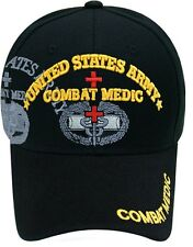 US Army COMBAT MEDIC Ball Cap EMS EMT 68W 91W 91A Infantry Airborne Ballcap Hat