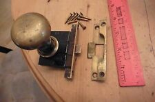 Vintage brass YALE door lock & knob with receiver made in USA (AA)