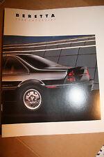 1988 Chevrolet Beretta 17 pg dealer ad brochure