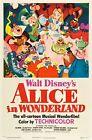 ALICE IN WONDERLAND DISNEY MOVIE POSTER FILM A4 A3 ART PRINT CINEMA