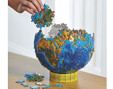 World Globe 3D Jigsaw Puzzle Three Dimentional Earth Planet 212 Piece Atlas