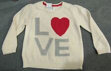 NWT Baby Gap Infant Girl 18-24 mo LOVE Pull over SWEATER with Intarsia HEART