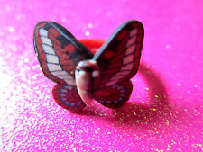 Plastic Butterfly Ring 5 or Size 8