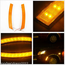 A Pair DC12V LED Car Wheel Eye Brow Yellow Light Turning Signal Lamps For Lexus