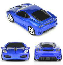 UK 2.4GHz Wireless 3D 1600DPI Ferrari F430 Car Shape Optical Usb Mouse in BLUE