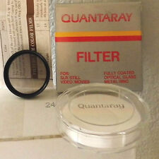 Quantaray 37mm V-37 ND2 Light Gray Neutral Density Filter +Case Box & Instructi