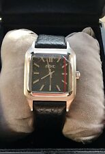 Next Mens Quartz Wrist Watch Classic Casual Vintage Business Black Leather Strap
