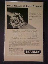 ~OLD STANLEY TOOLS Electric Wood Saw TOOL ART PRINT AD~ ORIGINAL ANTIQUE 1957