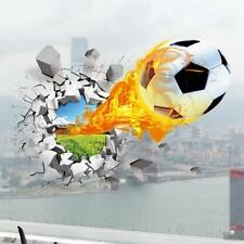 3D DIY Wall Decals Football Wall Stickers For Kids Sports Bedroom Decoration