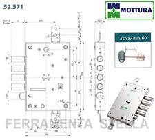 SERRATURA A INFILARE MOTTURA DOPPIA MAPPA 52571 PORTA PORTONE BLINDATA SICUREZZA