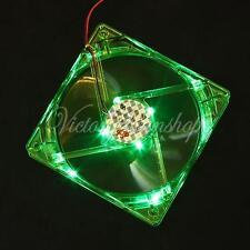 CPU Lüfter Grün LED Bunt Fan Cooler Kühler PC Gehäuselüfter 120x120x25mm 4-Pin