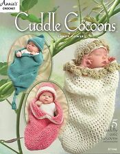 Cuddle Cocoons & Hats Crochet Patterns Baby 0-3 mths Sandy Powers Annie's NEW