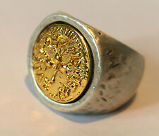 Jewish signed ring of king Solomon, 18k gold plated,handmade